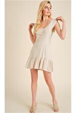 Ruffle Edged Mini Dress