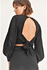 Full Sleeve Open Back Top