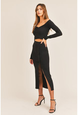 Mable Button Crop Top & Midi Skirt