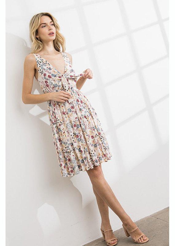 ILLA ILLA Floral Front Tie Dress