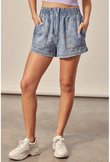 Mustard Seed High Waist Slouchy Denim Shorts