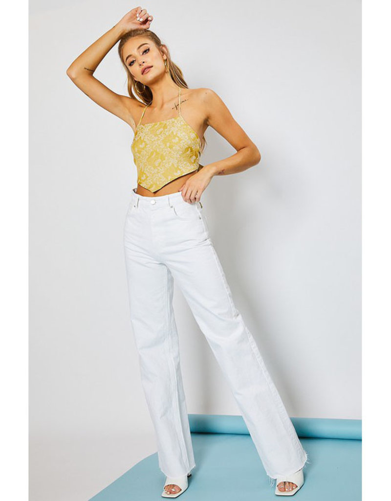 pretty garbage Yellow Halter Top