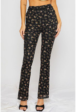 pretty garbage Floral Mesh Flare Pants