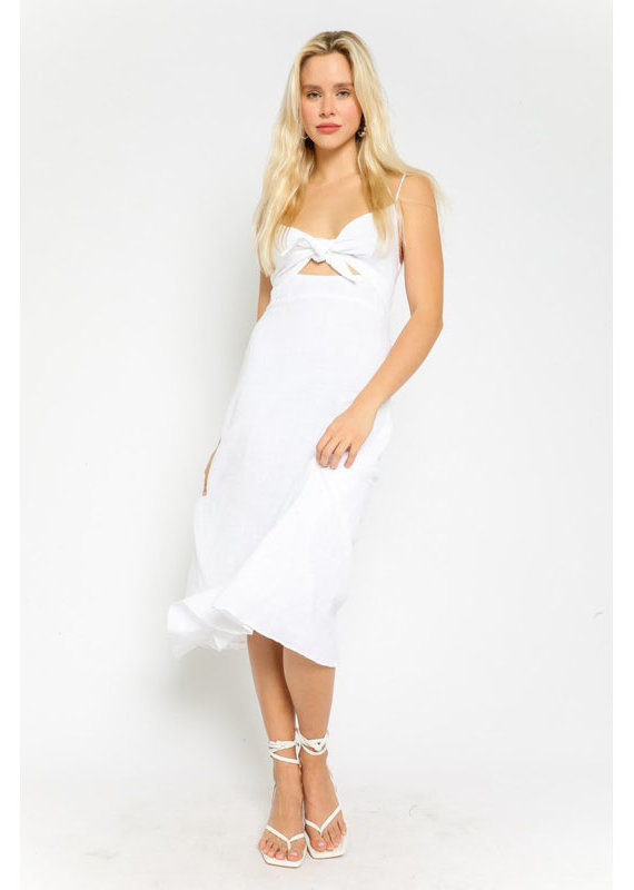 Olivaceous Triangle Cut Out Midi Dress