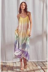 Storia Rainbow Tie Dye Maxi Dress