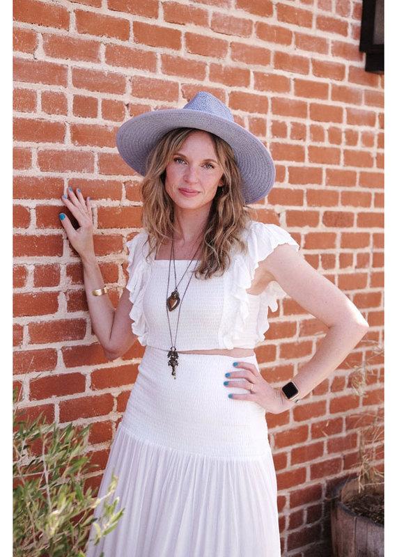 ILLA ILLA Smocked Top & Maxi Skirt Set
