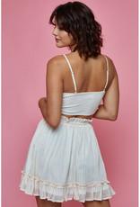 Blue Blush Honey Top & Mini Skirt Set