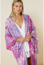 levee Lavender Tie Dye Kimono