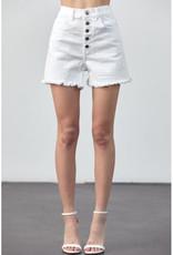 Poison Mushroom White High Waist Denim Shorts