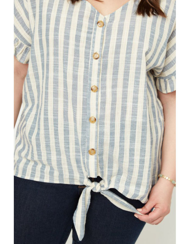 Hayden Stripe Shirt w/Tie