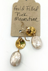 Waterlily Jewelry Gold Fill Pink Moonstone