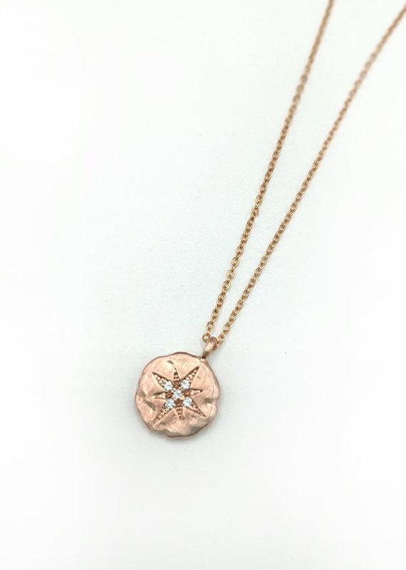 Waterlily Jewelry Rose Gold CZ Starburst