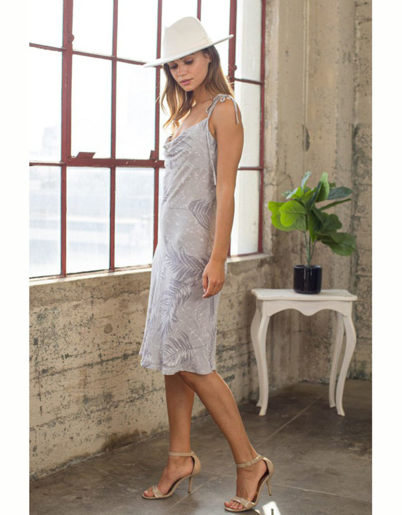 blue b. collection Tropical Print Cowl Neck Dress