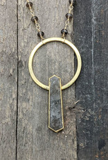 Waterlily Jewelry Gold Fill Smokey Quartz Point