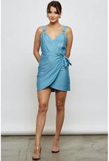 Blue Blush O Ring Wrap Dress