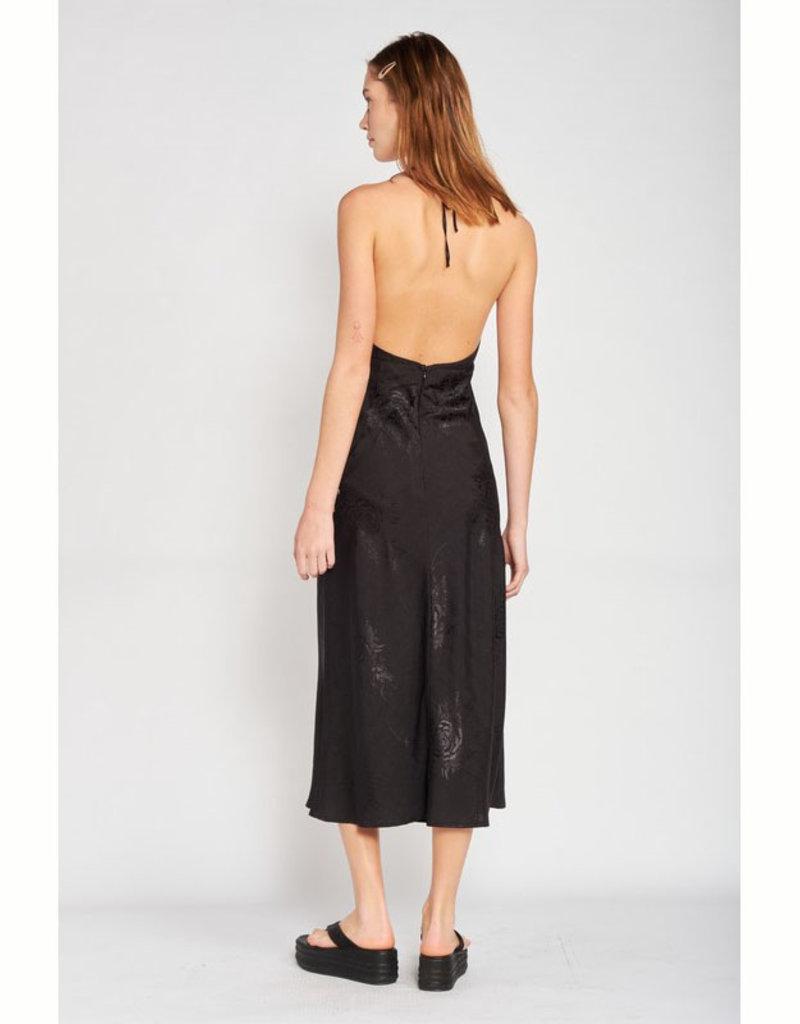 Emory Park Black Halter Midi Dress