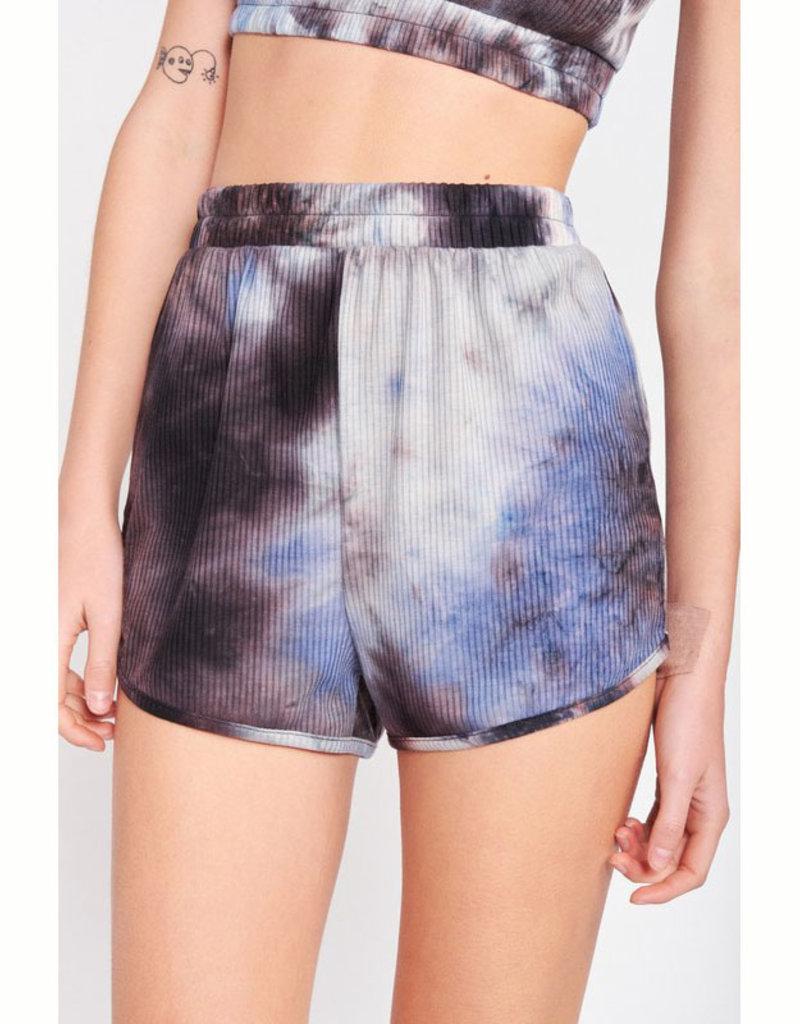 Emory Park Ribbed Tie Dye Shorts