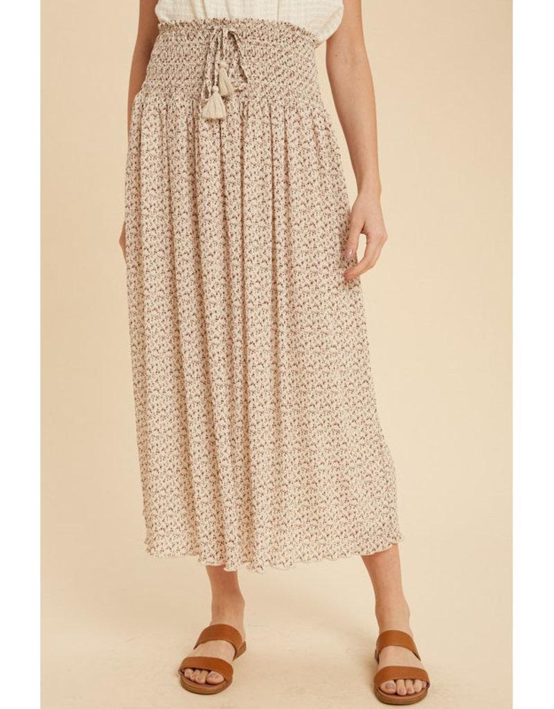 In Loom Crinkle Chiffon Midi Skirt