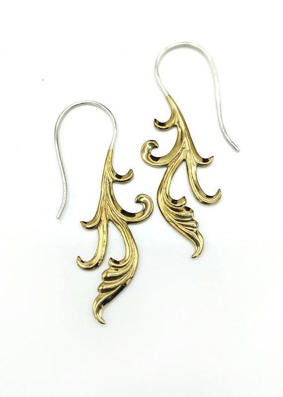In BlissfulCo Sterling Silver & Brass Cherish Earrings