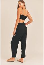 Mable Linen Crop Top & Pants Set