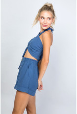 ILLA ILLA Linen Halter & Shorts Set