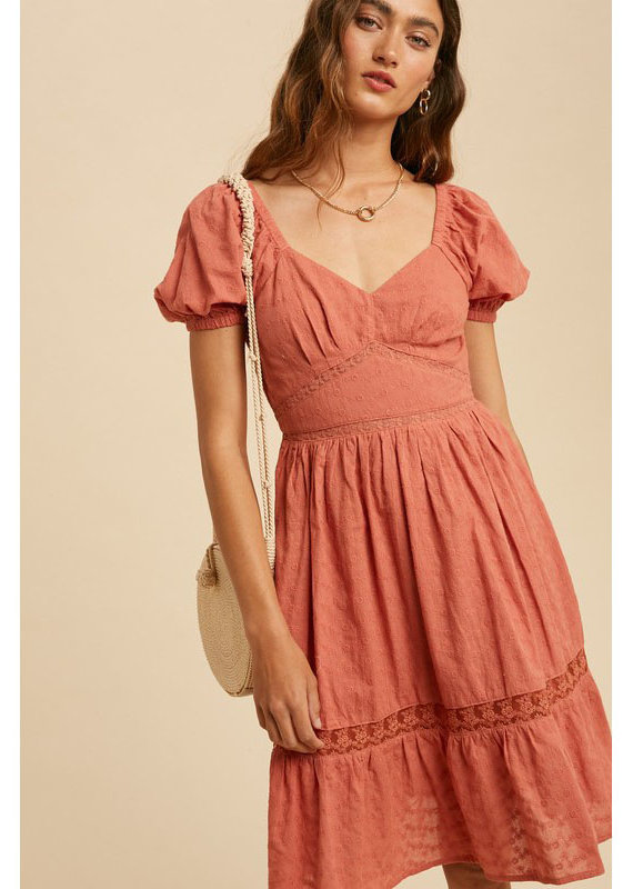 In Loom Sweetheart Peasant Dress