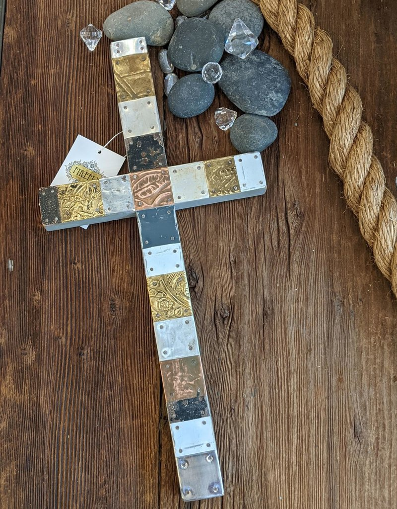 Laura VanLandingham Mixed Metals Cross Large