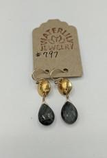 Waterlily Jewelry #797 Gold Fill Hawk's Eye