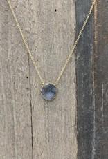 Waterlily Jewelry #821 Gold Fill Druzy