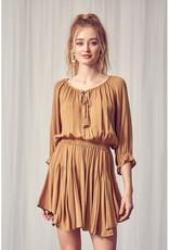Miou Muse Peasant Mini Dress