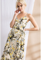 Lena Floral Print Chiffon Wrap Midi Dress