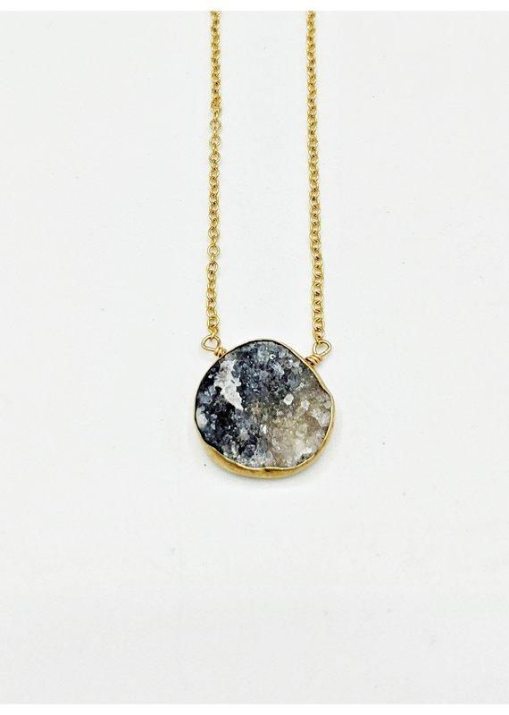 Waterlily Jewelry #824 Gold Fill Smoky Druzy