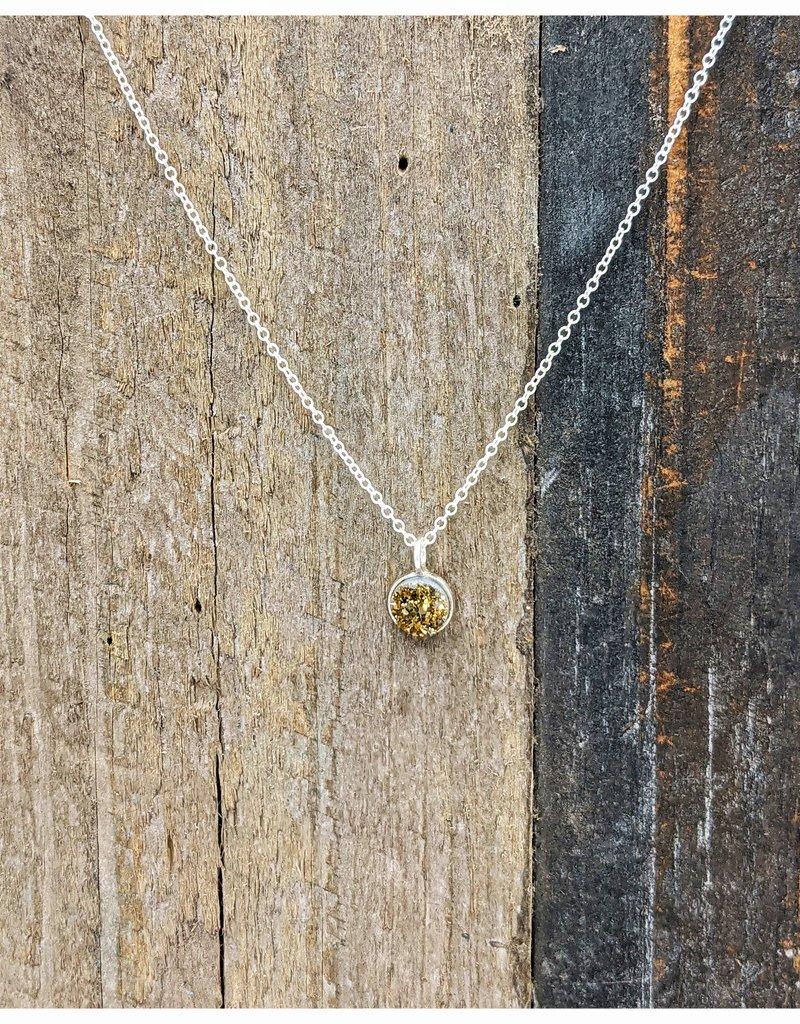 Waterlily Jewelry #820 Sterling Bronze Druzy