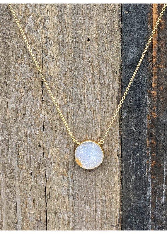 Waterlily Jewelry #819 Gold Fill Blush Druzy