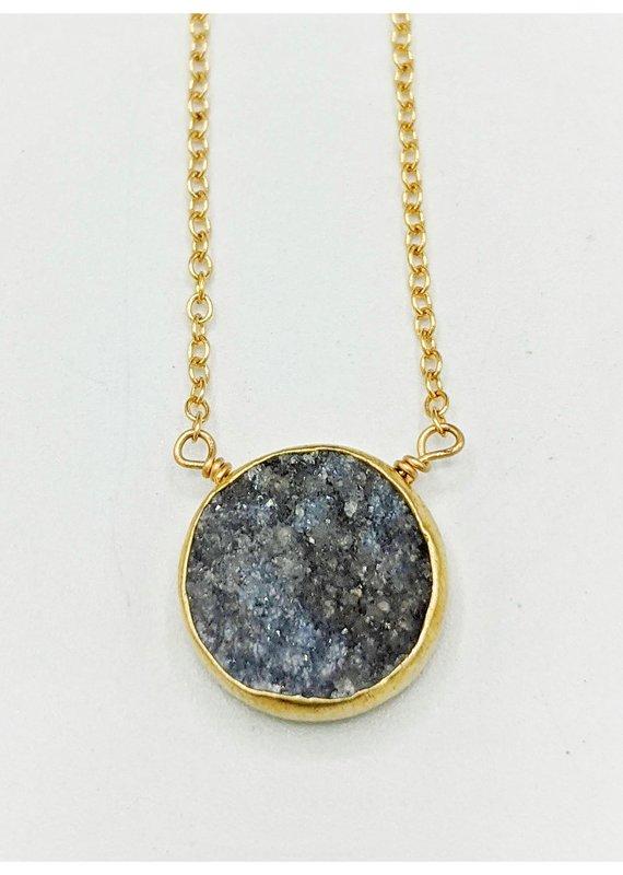 Waterlily Jewelry #817 Gold Fill Druzy
