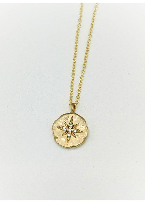 Waterlily Jewelry #812 Gold Fill CZ Starburst