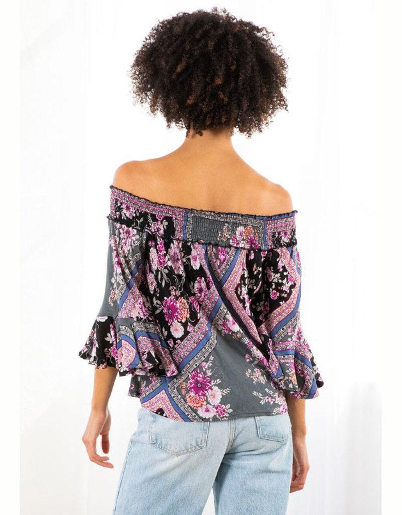 Lovestitch Orchid Off Shoulder Top