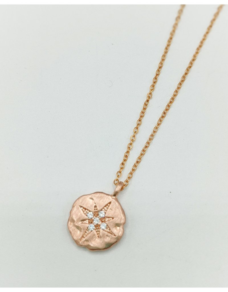 Waterlily Jewelry #791 Rose Gold CZ Starburst