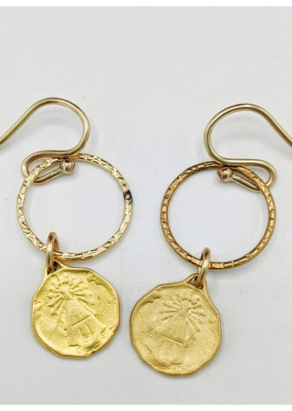 Waterlily Jewelry #811 Gold Fill Vintage Repro Medal