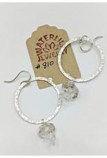Waterlily Jewelry #810 Sterling Herkimer Quartz