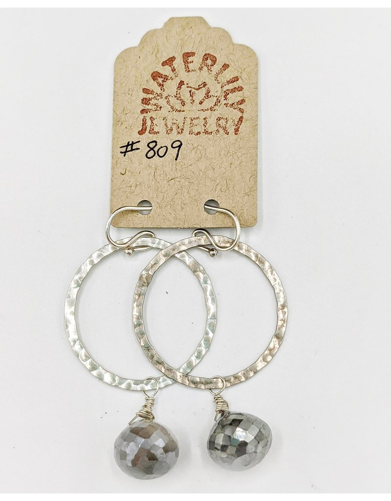 Waterlily Jewelry #809 Sterling, Gray Moonstone