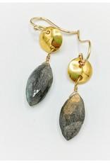 Waterlily Jewelry #798 Gold Fill Labradorite
