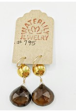 Waterlily Jewelry #795 Gold Fill Smokey Quartz