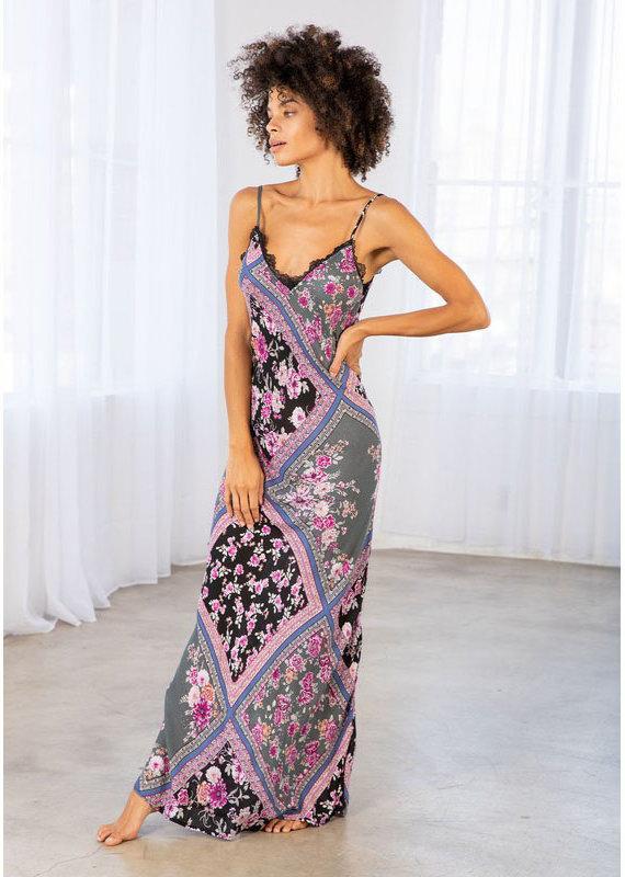 Lovestitch Orchid Bias Cut Maxi Dress
