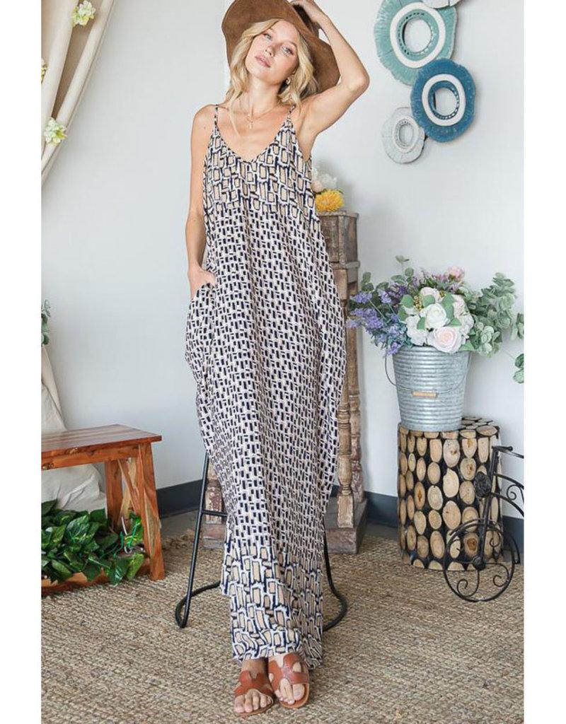 Bucketlist Geo Print Maxi Dress