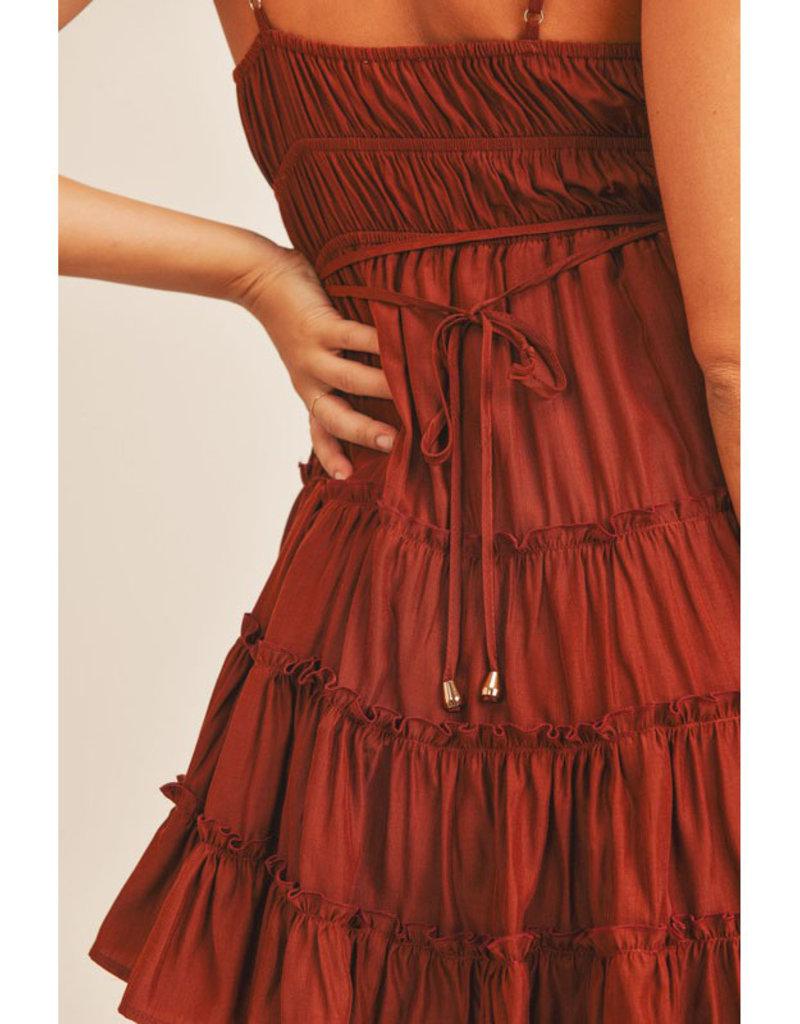Mable Laced Ruffle Mini Dress