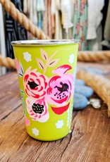 One Hundred 80 Degrees Painted Floral Cup