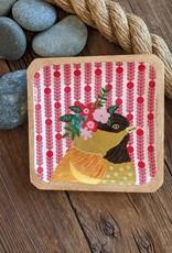 One Hundred 80 Degrees Birds & Flower Mango Plate