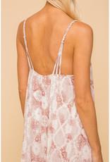 Hem & Thread Chiffon Snakeskin Dress