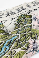 Two's Company Screen Printed Scarf Paris Map